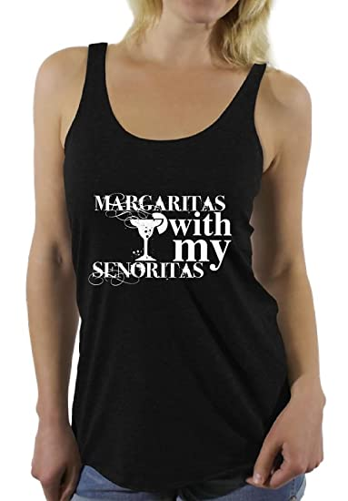 b96b5dc7 Awkward Styles Margaritas with My Senoritas Racerback Tank Top Cinco de Mayo  Black S