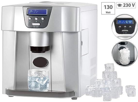Rosenstein & Söhne - Cubitera: cubitos de hielo eléctrica EWS-2100 con dispensador de cubitos de hielo (Máquina de cubitos de hielo con dispensador): ...