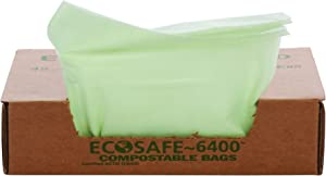 """STOUT by Envision E3348E85 EcoSafe-6400 Compostable Bags, 33"""" x 48"""", 32 gal Capacity, 0.85 mil Thickness, Green (Pack of 50)"""