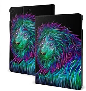Compatible with Ipad 7th 10.2 Case Apple Generation Florescence Lion Screen Protector Mini Case 2020 Shock Proof Full Protective Standing Cover Lightweight Fold Auto Wake/Sleep
