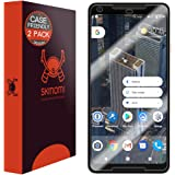 Google Pixel 2 XL Screen Protector (Case Friendly)[2-Pack], Skinomi TechSkin Full Coverage Screen Protector for Google Pixel 2 XL 2017 Clear HD Easy Install Anti-Bubble Film