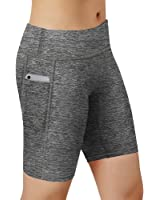 HuaTu Women Performance Compression Shorts with Side Pocket