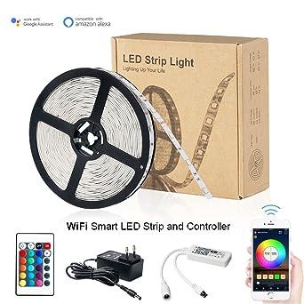 Magic Hue LED WIfi Smart Streifen RGB Set LED Strip Mit App Gesteuert 16 Mio
