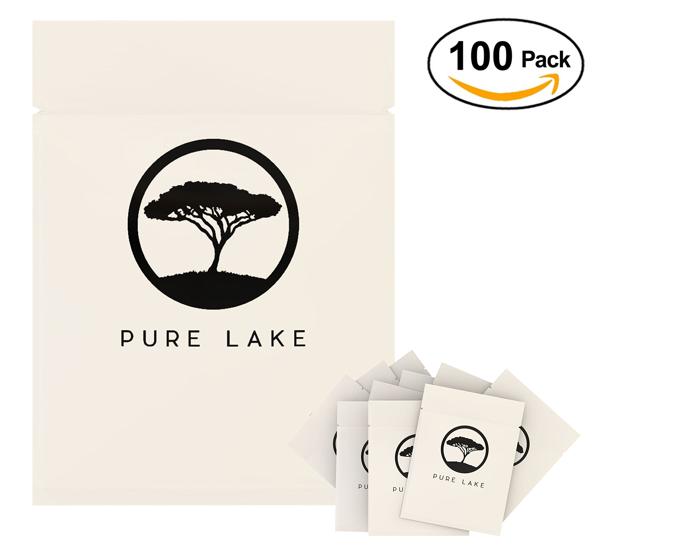 Pure Lake Eyelash Extension Under Eye Gel Pads- 100 Pairs Set - Lint Free Under Eye Patches with soothing Aloe Vera and nourishing Vitamin C - Professional Quality