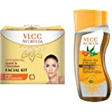 VLCC Haldi Chandan Facial Kit and Ayurveda Shampoo Combo