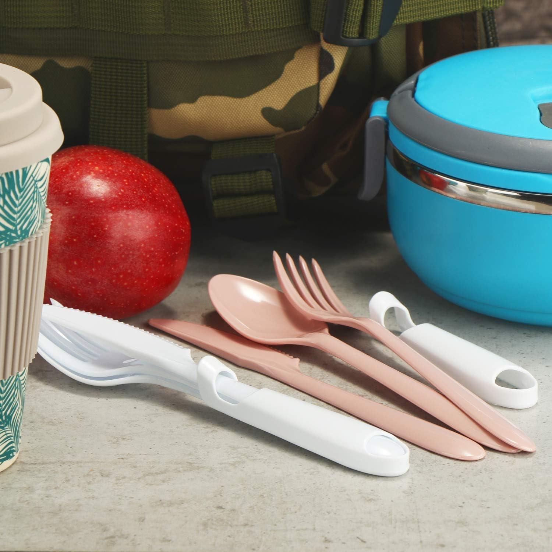 fourchette et cuill/ère r/éutilisables pour le camping couteau S/élection varie com-four/® 12 couverts