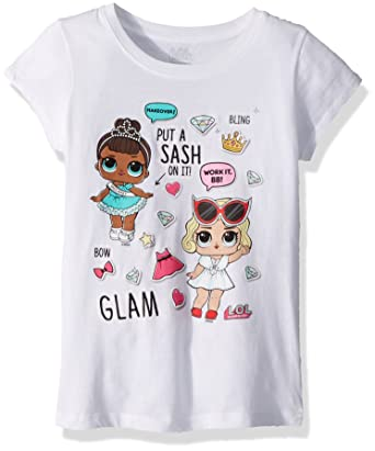 c2975a058 L.O.L. Surprise! Girls' Glam Club Miss Baby & Leading Baby Short Sleeve T- Shirt