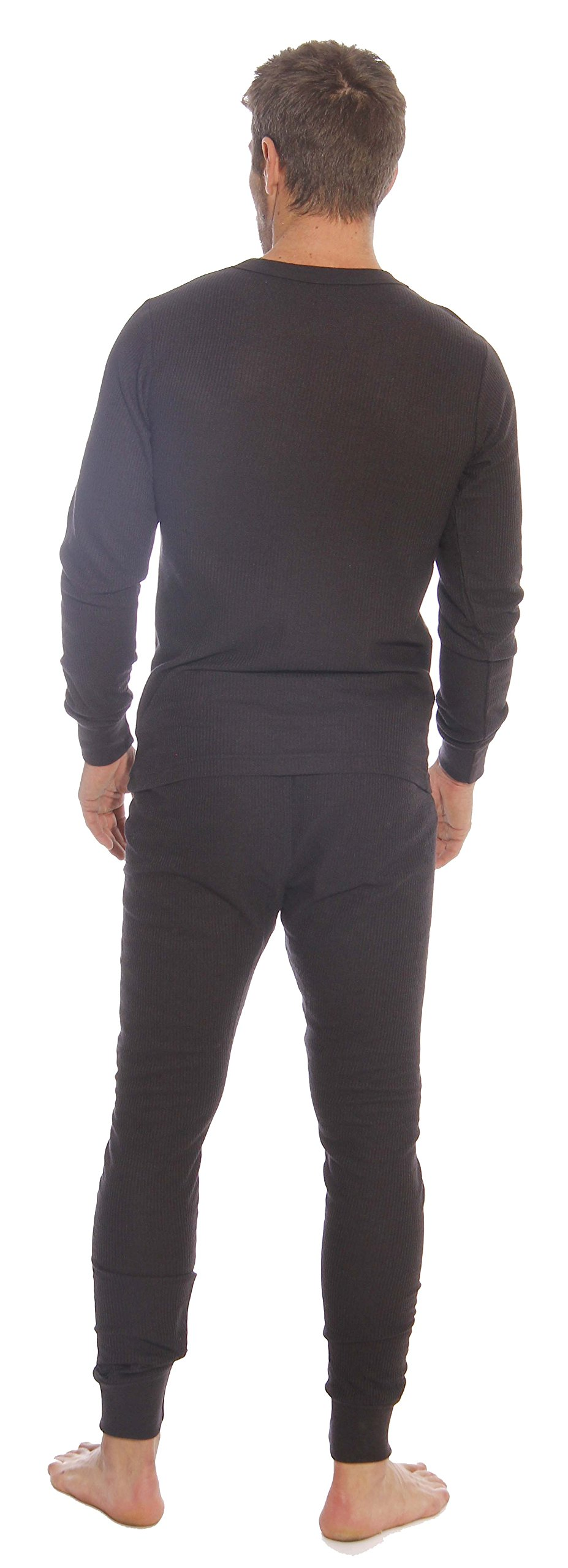 At The Buzzer Thermal Underwear Set For Men 95962-Black-XL by At The Buzzer (Image #3)