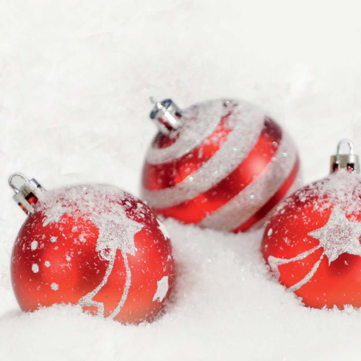decorado con bolas navide/ñas blanco y rojo 100 hojas 90g//m/² SIGEL DP247 Papel navide/ño 21 x 29,7 cm