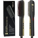 Beard Straightener, Anti-Scald Beard Straightener Comb, Ceramic & Ionic Heated Beard Straightener, Adjustable…
