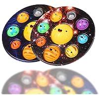 2Pcs Push Pop Fidget Toy, Bubble Sensory Fidget Toy, Simple Dimple Hand Toy for Kids & Adult, Stress Relief Anxiety…