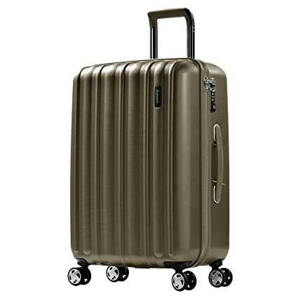 98bfa2bac Eminent Suitcase Glam II 65 cm 71 L Scratch-Resistant Surface 4 Silent  Double Wheels TSA Lock Champagne: Amazon.co.uk: Luggage