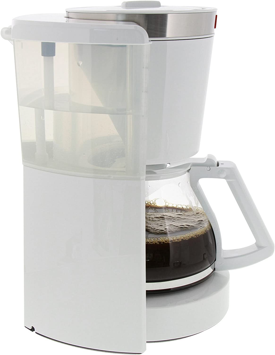 Keep Warm Function Melitta Look IV Selection Black//Brushed Steel Aroma Selector Filter Coffee Machine with Glass Jug 1011-04