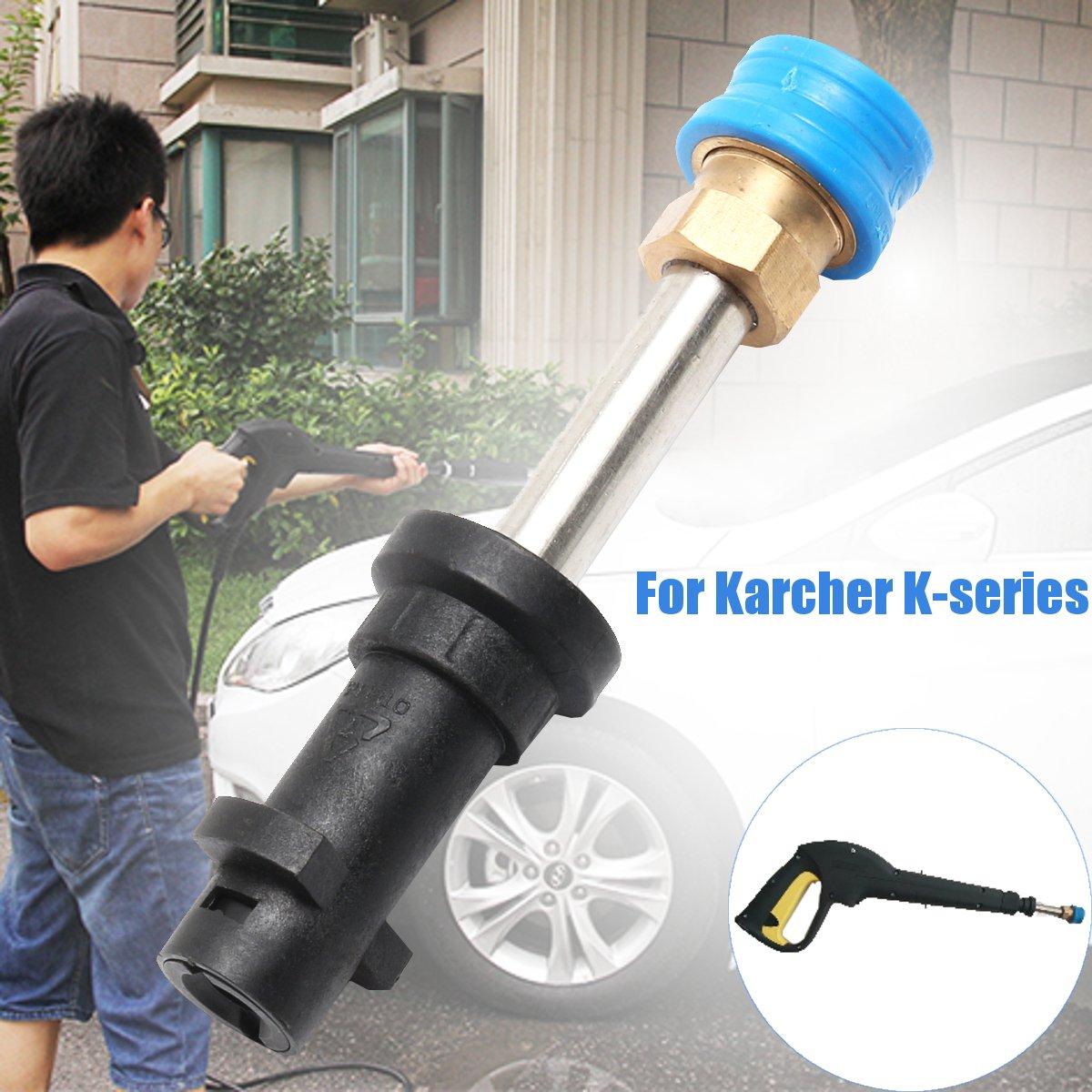 SAFETYON Düse Adapter Metall Jet Wasser Spray Waschmaschine Umstellung Adapter Druck Kompakte Schnellverschluss Für Uns Karcher K-Serie