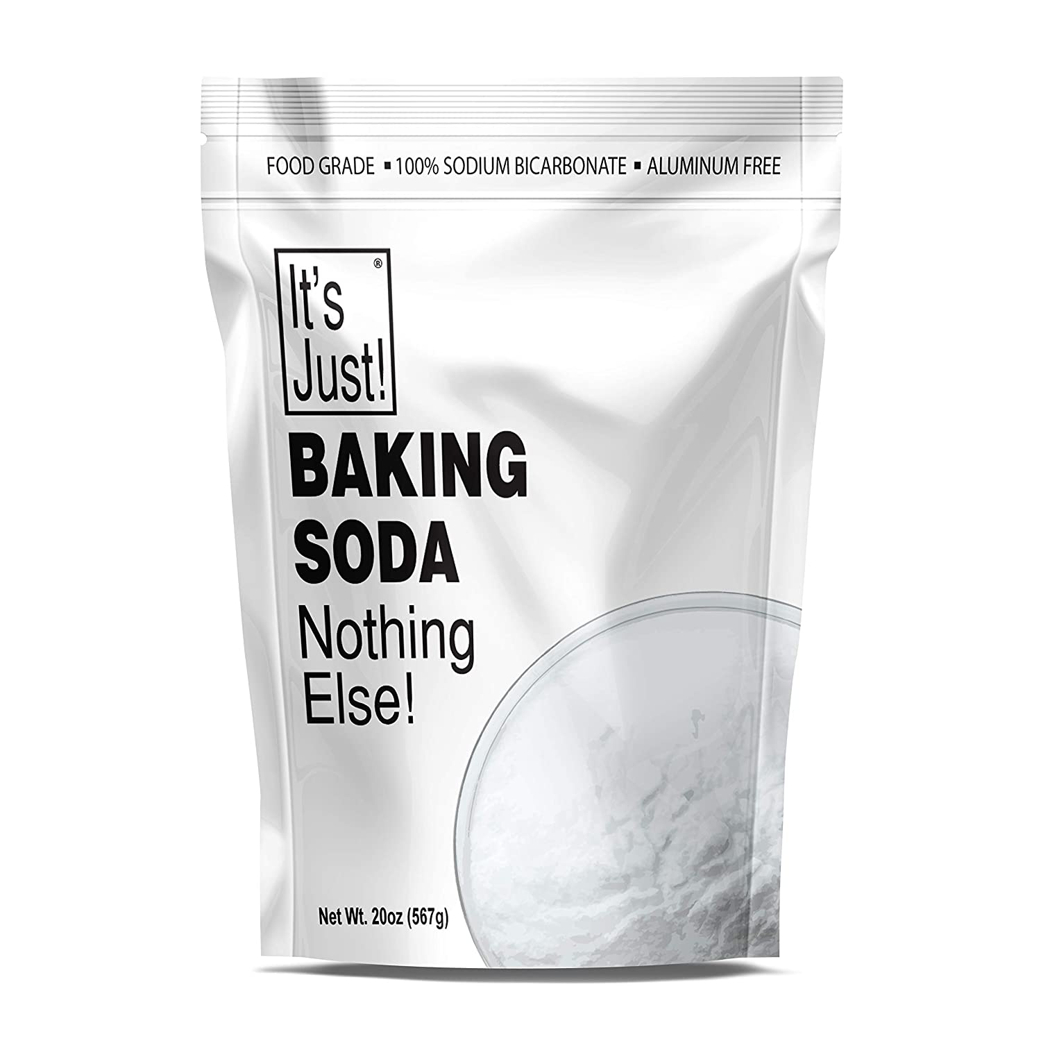 It's Just - Baking Soda, Sodium Bicarbonate, Food Grade, Made in USA (1.25 Pound)