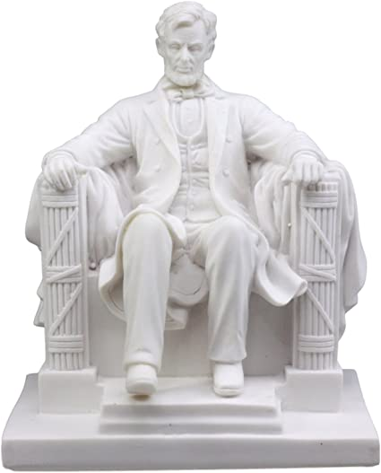 Ebros Small Seated Abraham Lincoln Figurine 5 H Lincoln Memorial Colossal Sculpture 16th President of United States of America
