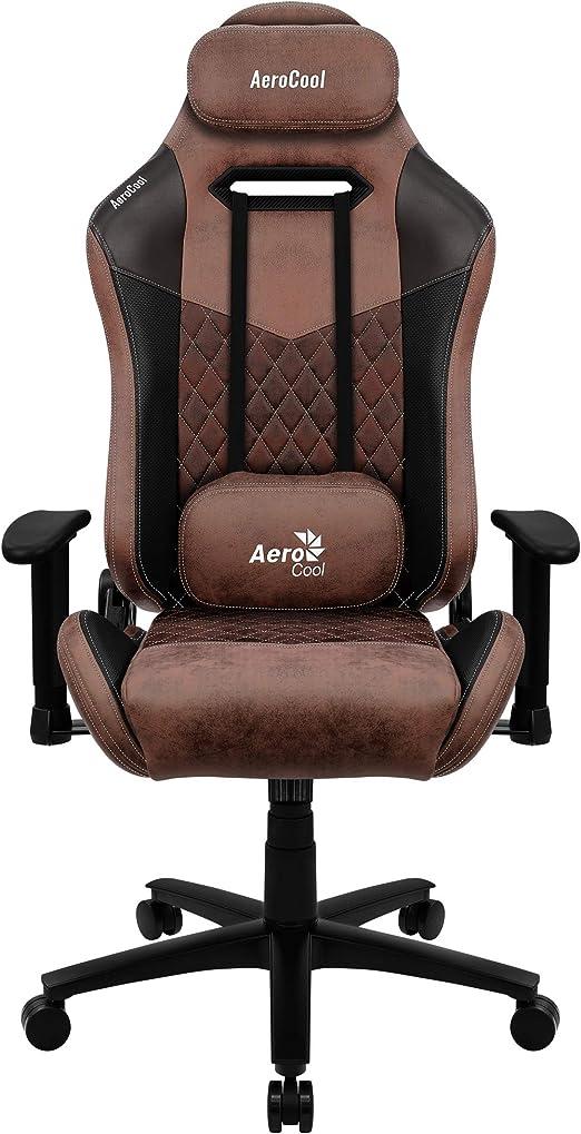 Aerocool Duke Silla Gaming, AeroSuede Transpirable, Respaldo Ajustable, Negro, Rojo: Amazon.es: Juguetes y juegos