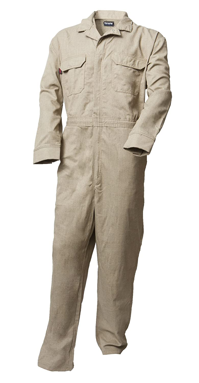 Amazon.com: Tecgen Select FR Tan 5.5 oz. Deluxe Coverall Flame Resistant: Overalls And Coveralls Workwear Apparel: Clothing