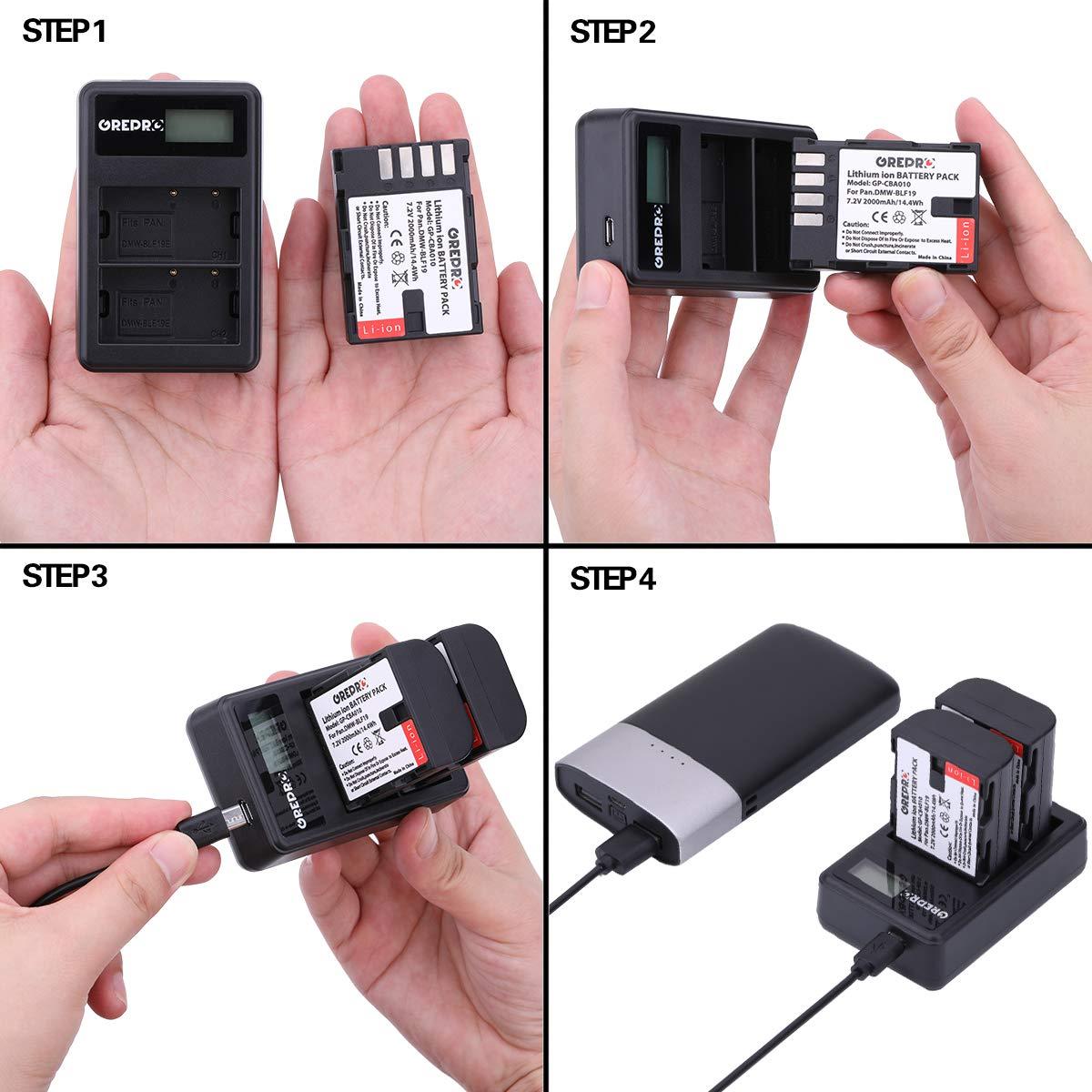 BP-511 Cargador Paquete de 2 Bater/ías de Repuesto con Cargador Dual USB para Canon EOS 50D 40D 30D 20Da 20D 10D 5D 300D Digital Rebel D30 D60 PowerShot G6 G5 G3 G2 G1 Pro 1 Pro 90 IS