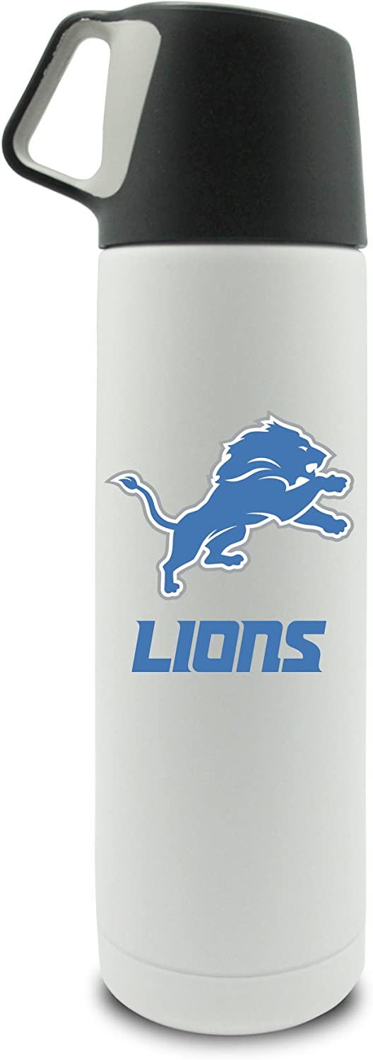 NFL Detroit Lions 17oz Double Wall Stainless Steel Coffee Thermos with Cup