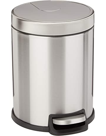 marrone Cestino in plastica resistente per bagno o ufficio Ideale come cestino spazzatura o pattumiera raccolta differenziata mDesign Bidone Spazzatura con manici integrati