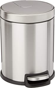 AmazonBasics Round Soft-Close Trash Can - 5L