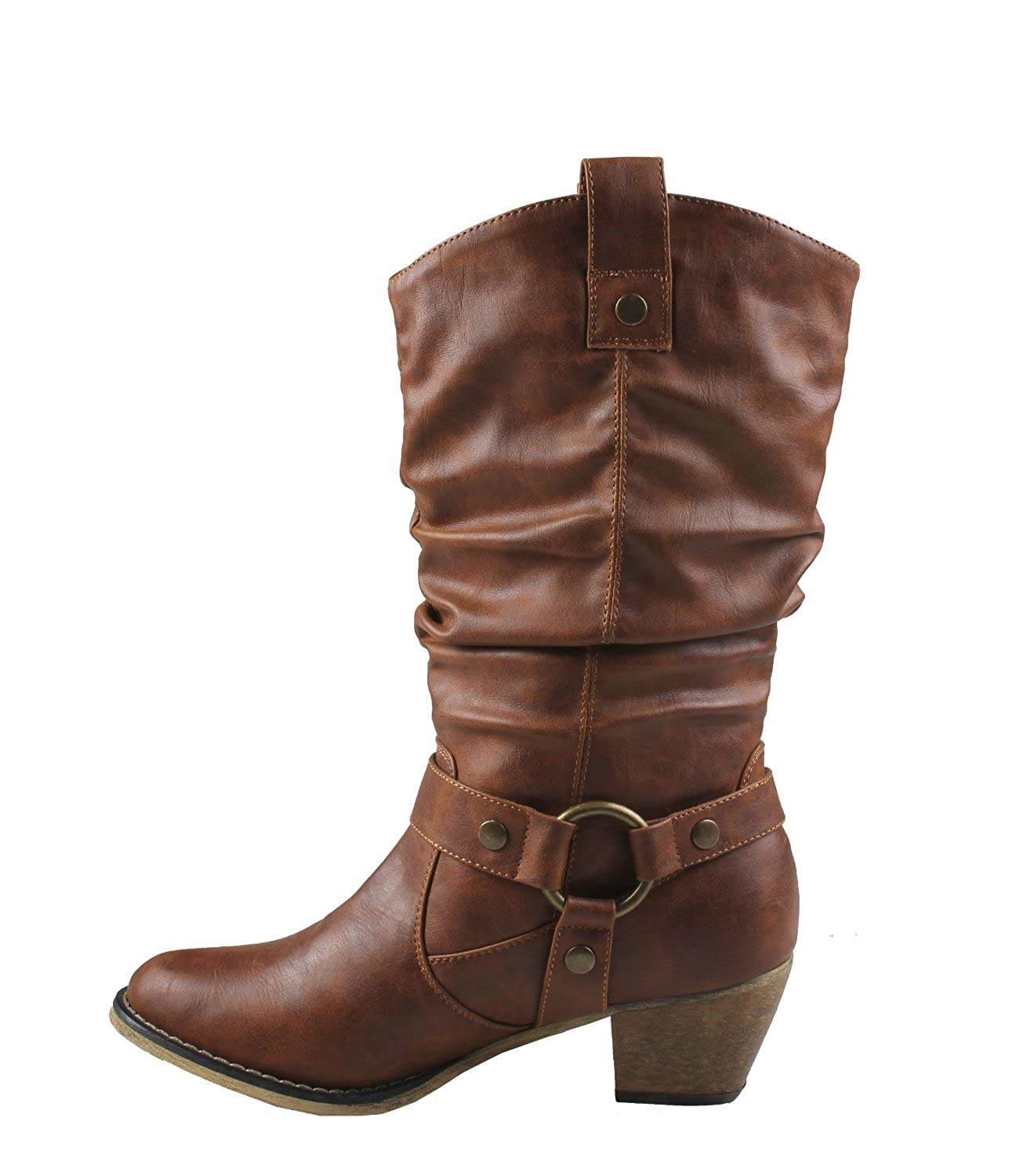 Amazon.com | Refresh Wild-02 Women&39s Mid calf Cowboy boots with