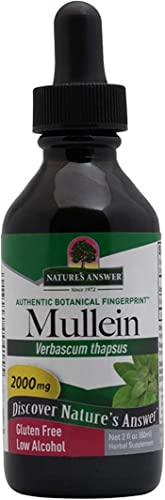 Nature s Answer Mullein Leaf Extract – 2oz. Low Alcohol Gluten Free Super Concentrated
