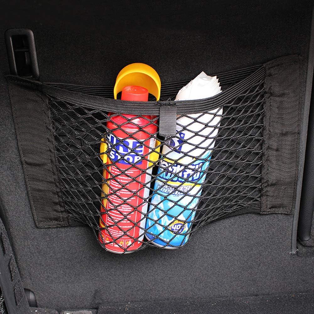 Black Mesh Wall Sticker Organizer Pouch Bag Kbnian Trunk Storage Net,Car Trunk Back Seat Organizer 2 Pack