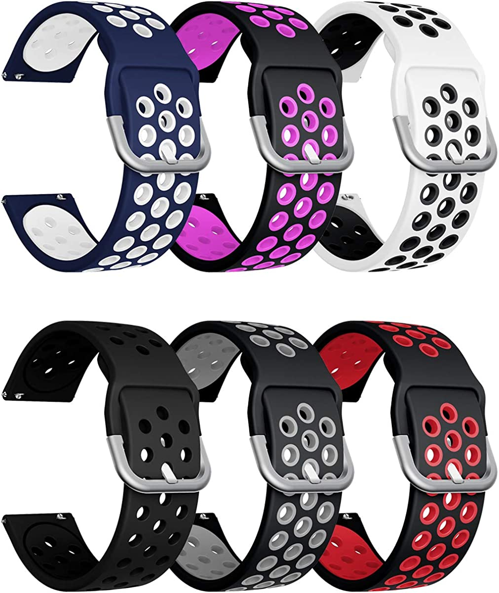 20mm Silicone Porous Watchband Bracelet Wrist Strap for Samsung Galaxy 42mm #ORP