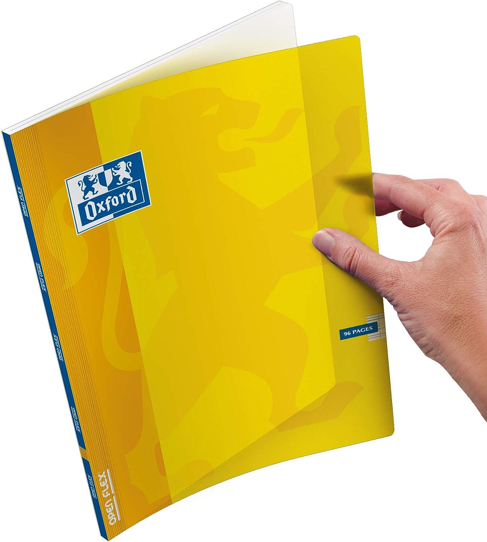 verschiedene Farben 96 Seiten Oxford OpenFlex Notizb/ücher gro/ße Karos 24 x 32 cm 3 St/ück kariert Umschlag aus Polypropylen 90 g