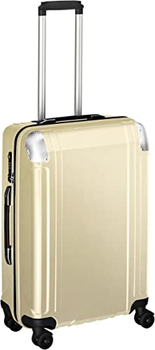 Zero Halliburton Geo Polycarbonate 24 Inch 4 Wheel Spinner Travel Case, Polished Gold, One Size