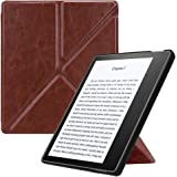 "Fintie Origami Case for Kindle Oasis (9th Gen, 2017 Release ONLY) - Slim Fit Stand Protective Cover Support [Hands Free] Reading with Auto Wake/Sleep for Amazon All-New 7"" Kindle Oasis, Brown"