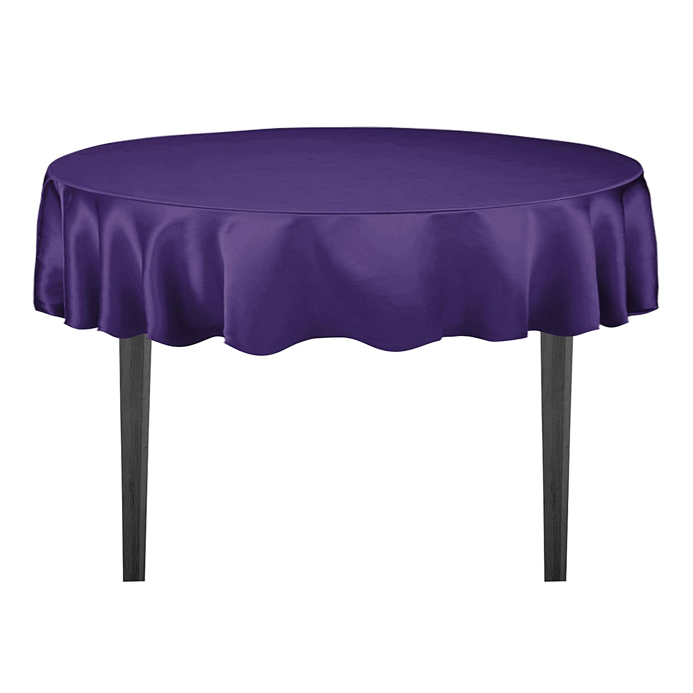 Superbe Amazon.com: LinenTablecloth 70 Inch Round Satin Tablecloth Purple: Home U0026  Kitchen