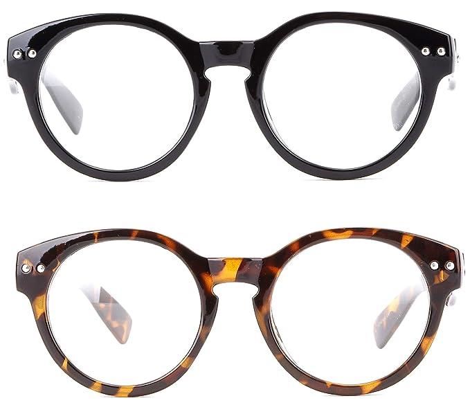 393d9ee29c88 Amazon.com  Newbee Fashion - Vintage Retro Round Clear Lens Fashion Glasses Thick  Quality Frame  Clothing