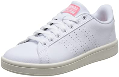 adidas Damen Cloudfoam Advantage Clean Sneakers, Weiß Footwear White ray  Pink, 36 2 d711452632