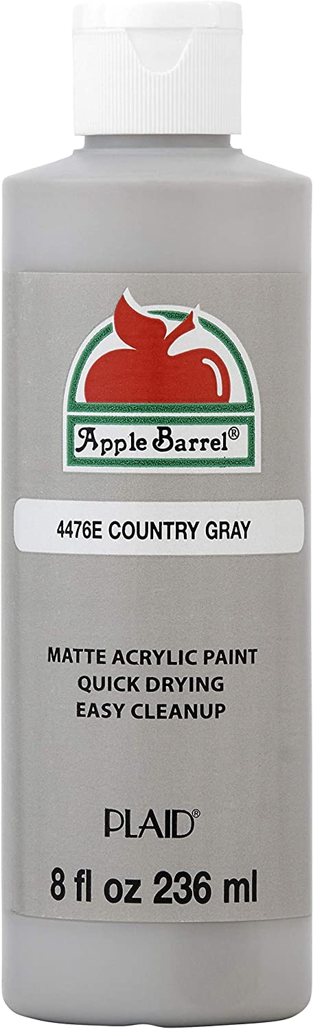 Apple Barrel Acrylic Paint in Assorted Colors (8 oz), 4476E Country Gray