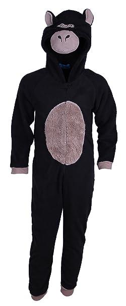 Niño Negro Gorilla Pajamas pijamas/Mono/Disfraz/Onesie 3 – 13 Años Negro