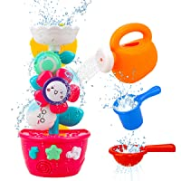 GOODLOGO Flower Bath Toys Bathtub Toys for Toddlers Babies Kids 2 3 4 Year Old Girls...