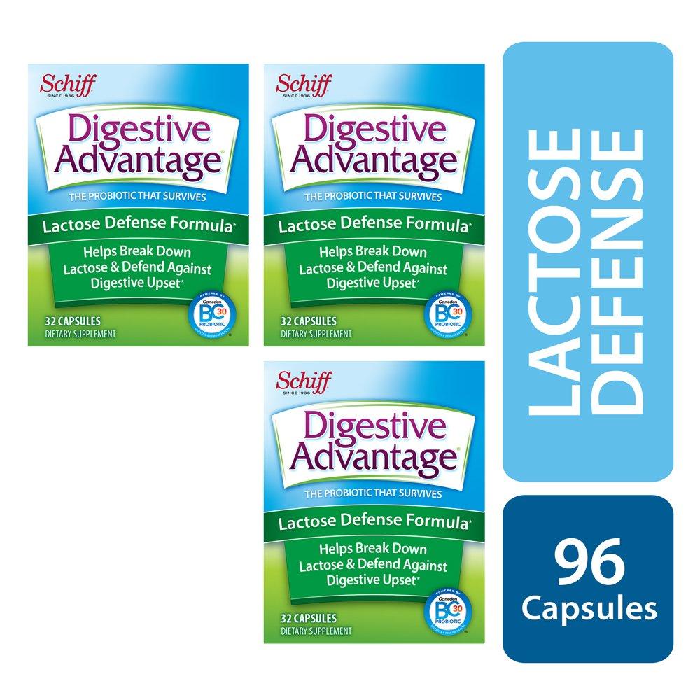 Digestive Advantage Lactose Defense Formula, 96 Capsules (3 packs of 32ct) by Digestive Advantage (Image #2)