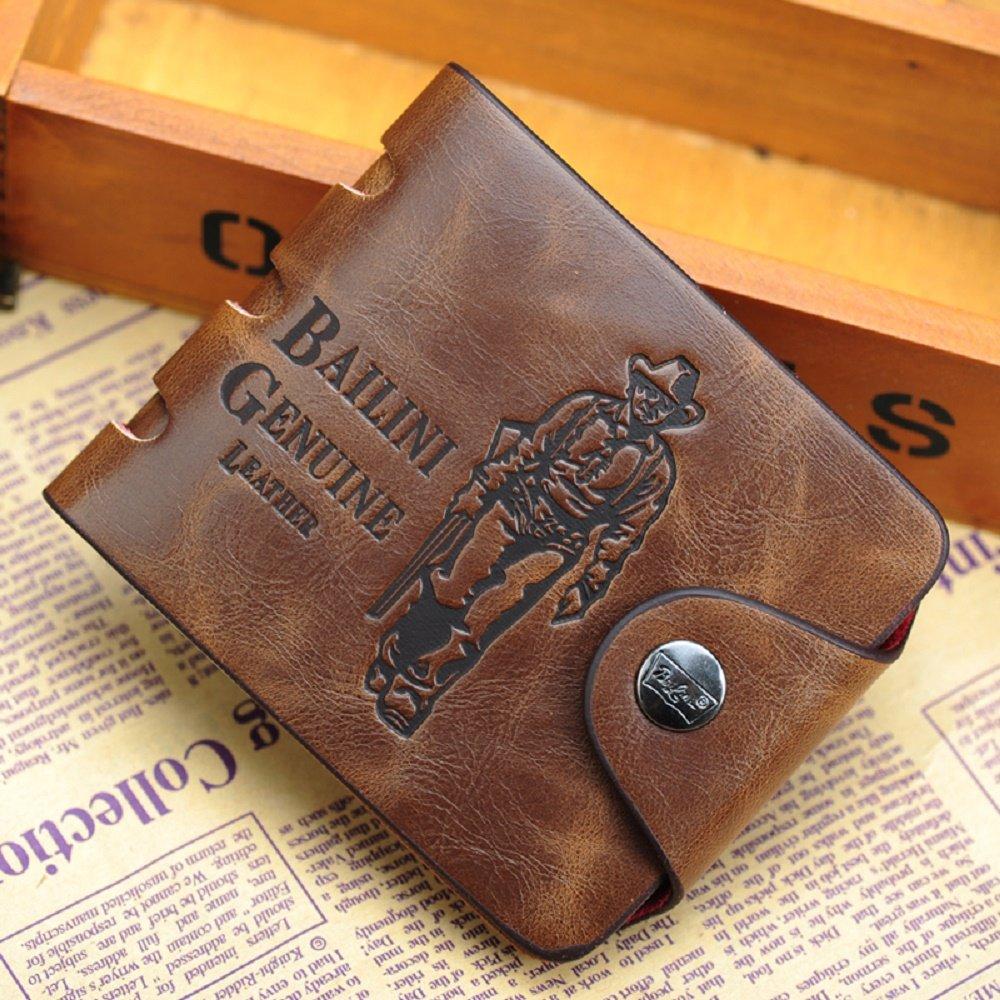 Nuevo para hombre Vintage Hunter Cowboy de Piel Auténtica Piel Bifold tarjeta caso Cluth bolso cartera: Amazon.es: Oficina y papelería