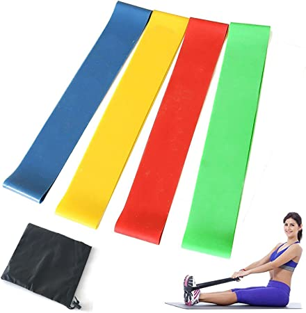 Four-color Stretch Loop Band Gym Yoga Fitness Exercise Elastic Rubber Rope   UK@
