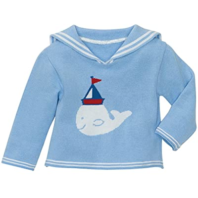 Elegent Baby Sweater. Nautical Boy. 12M.
