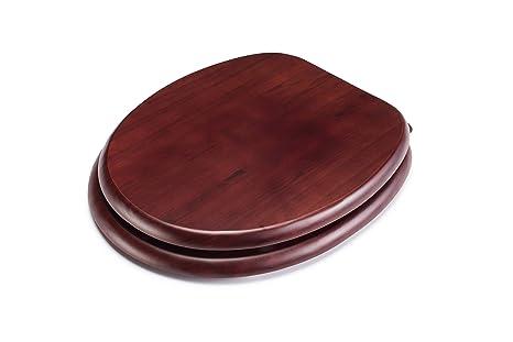 Croydex - Asiento de inodoro de madera, color caoba: Amazon.es: Hogar