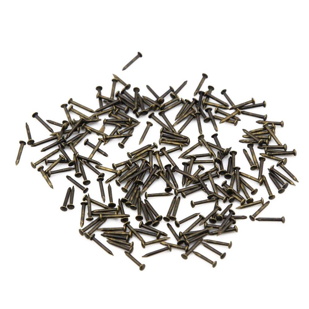Yasorn Antique Clous Tapissier Laiton Meubles D/écoratifs 10mm Mini DIY Bo/îte Clous 500pcs