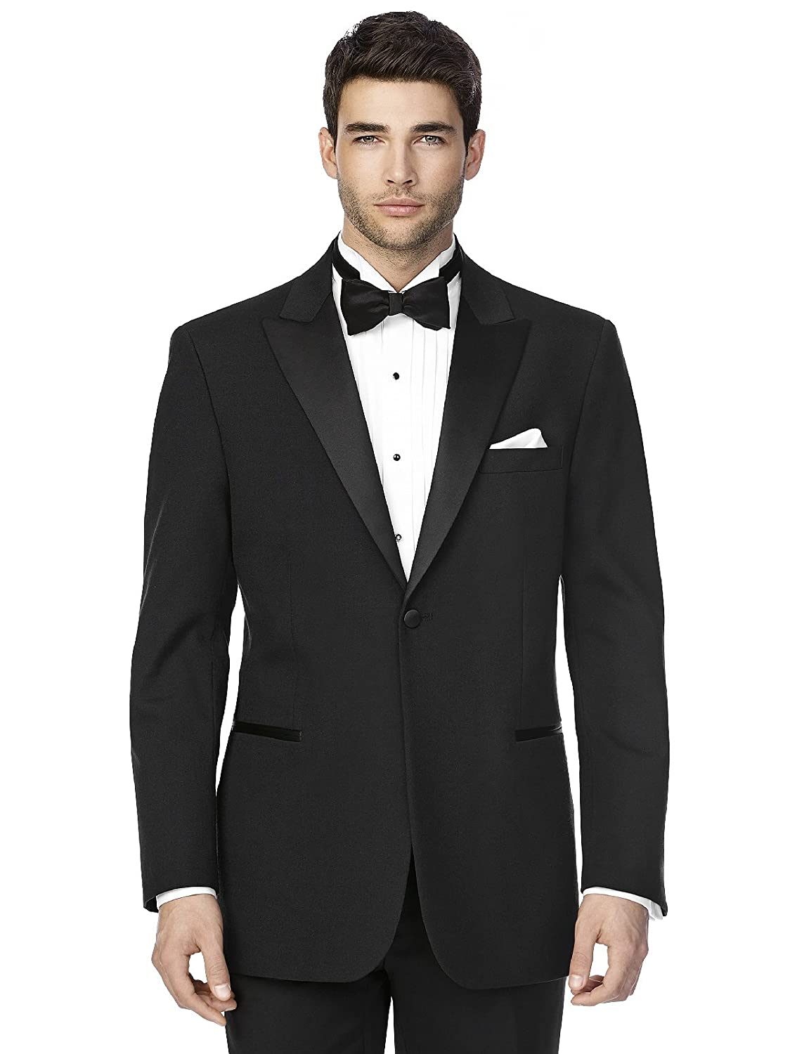 After Six Men's 'The Edward' Peak Collar Wool Tuxedo Jacket by Dessy Group