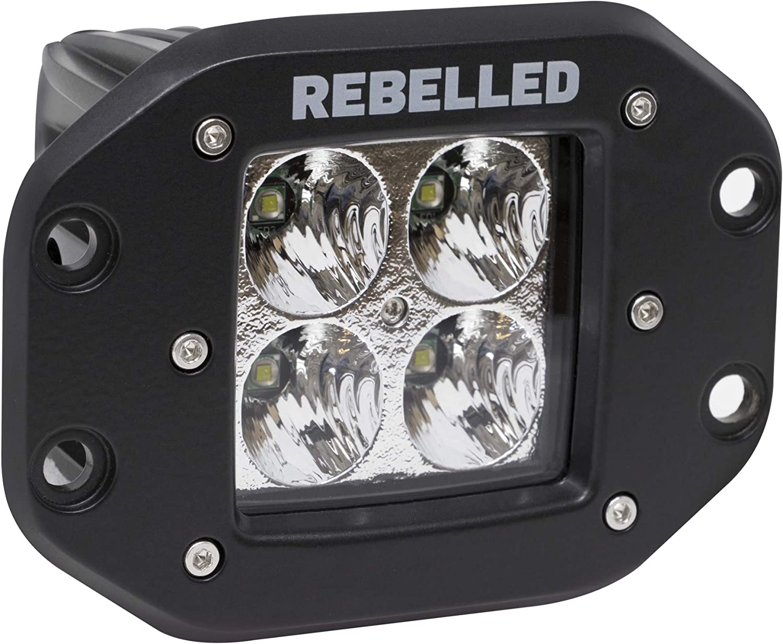 Waterproof with Wiring Harness /& Mounting Gen 2 Flush Mount LED Cube Flood Work Light Kit for Off-Road Trucks ATV 40W REBELLED 2 Inch LED Light Pod Kits UTV Jeep