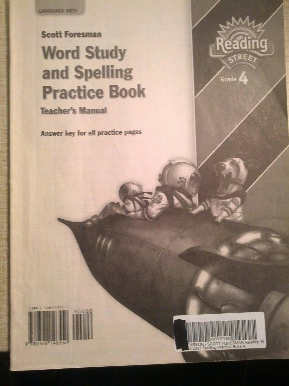 Spelling practice book teachers manual grade 4 scott foresman spelling practice book teachers manual grade 4 scott foresman reading street 9780328146550 amazon books fandeluxe Images