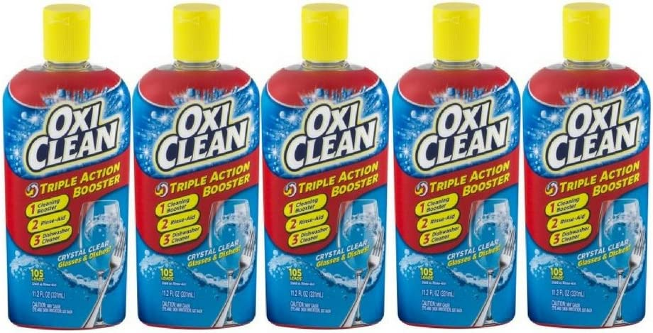 OxiClean Triple Action Booster, 11.2 FL OZ - Pack of 5