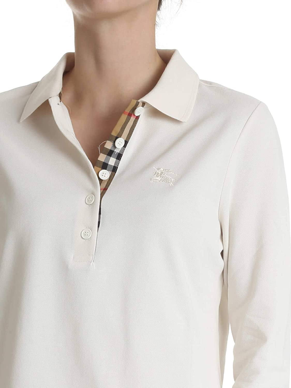 e22cc2e988d BURBERRY Femme 8004799 Beige Coton Polo  Amazon.fr  Vêtements et accessoires